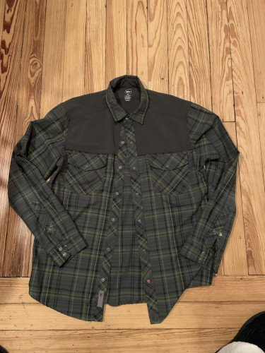 Men's Long Sleeve Tech Flannel, Green
