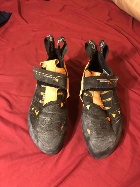 scarpa instinct vs climbing shoes: men's 41.5 or 8.5