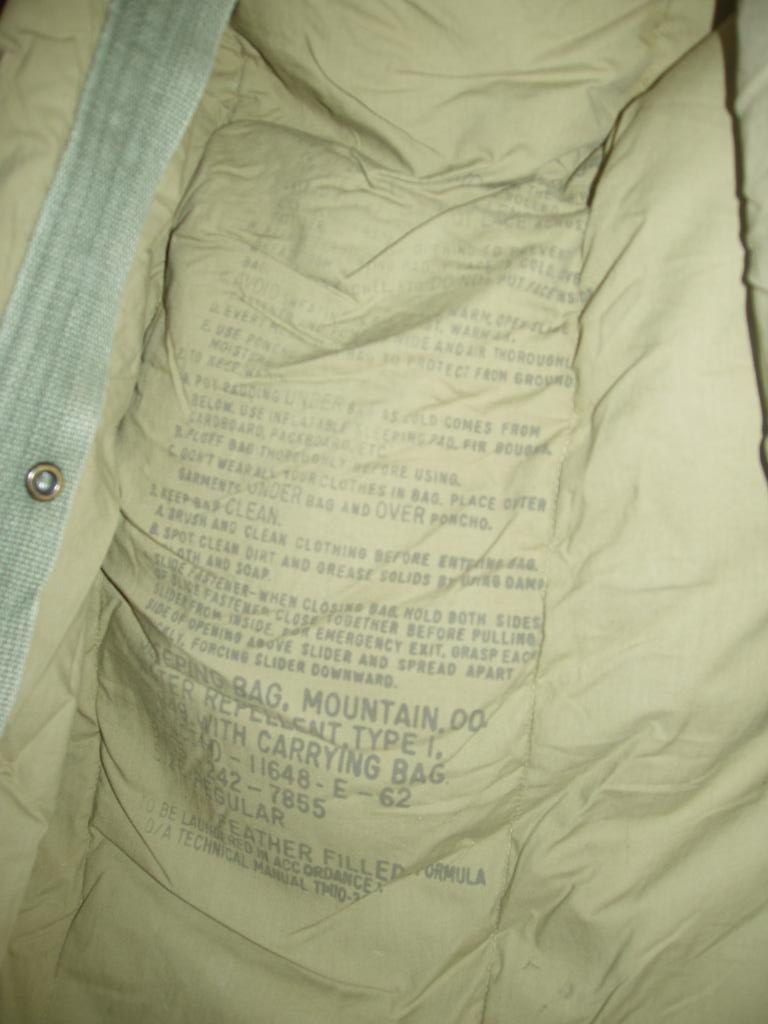 US Army Down Mountain Bag