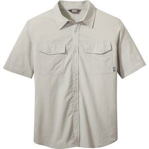 Wanderer Short-Sleeve Shirt - Men's Pebble, M - Good