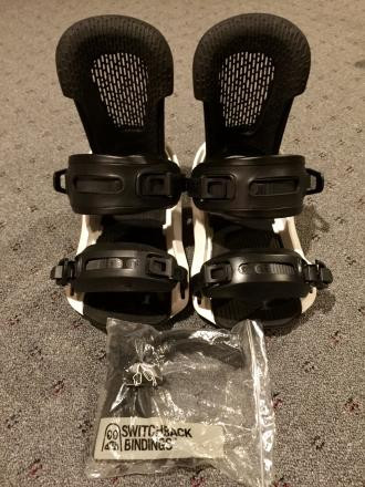 '15 SESSION Snowboard Bindings Size Large Black/W