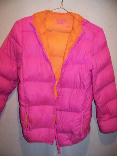 Triple Star Down Puffy Jacket Sweater, Girls XL