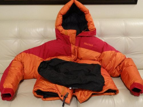 Marmot 8000m Mountaineering Expedition Down Parka (Classic Orange/Red)