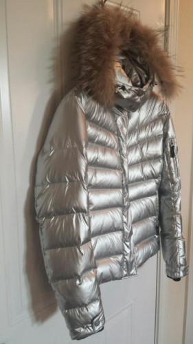 Bogner Fire and Ice Women's Sally Down Ski Jacket w/ Fur- Platinum