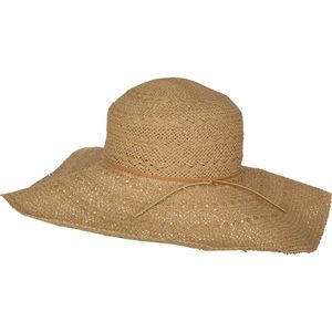 Toast Braided Sun Hat with Vachetta Trim Natural, One Size - Excellent