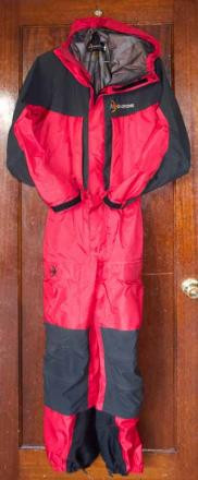 Moonstone 3-ply Gore-Tex suit, Red/Black, Size M