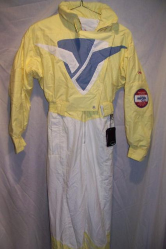 Vintage Bogner Janet Leigh One Piece Snow Ski Suit, Women's 4 Small, N