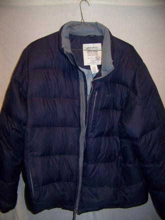 Eddie Bauer Down Puffy Jacket Coat, Mens XXL