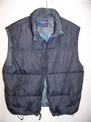 American Eagle Down Vest, Mens Large