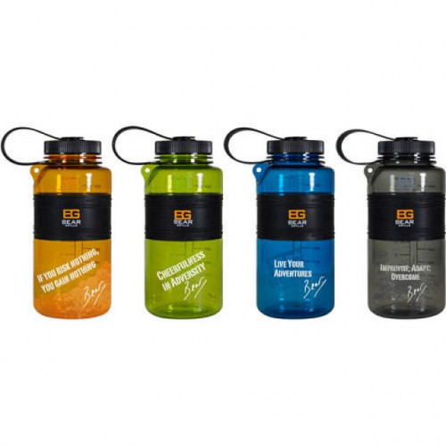Bear Grylls 32 oz water bottle - lot of 6 - ASSORTED COLORS