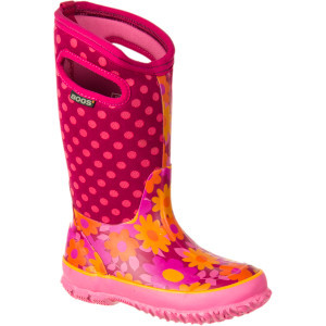 Classic Flower Dot Boot - Little Girls' Cherry, 12