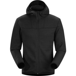 Covert Fleece Hooded Jacket - Men's Black, XL - Ex