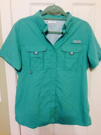 WOMEN'S PFG BAHAMA SHORT SLEEVE SHIRT MEDIUM