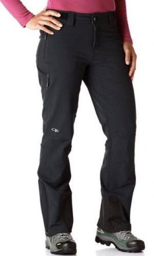 Outdoor Research Cirque Softshell Wm's Climb/Alpine Pants, Large, BLK