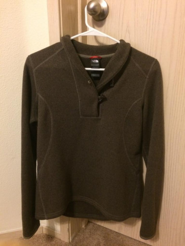 THE NORTH FACE Women's Brown Toggle-Fleece Sweater Pullover, Size M