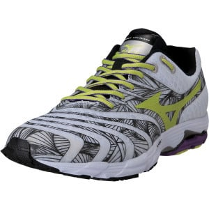 Wave Sayonara Running Shoe - Men's White/Lime Punc