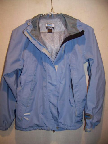 Discovery Channel Waterproof Rain Jacket, Womens Small