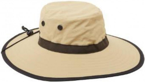 Sun Grubbies Cruz Wide Brim Hat, XL, Khaki/Black