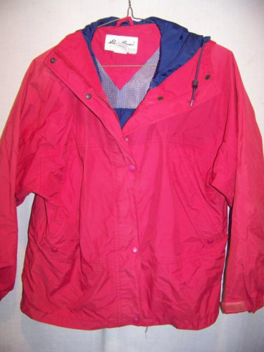 Eddie Bauer Red Gore-tex Rain Jacket Parka, WM Medium