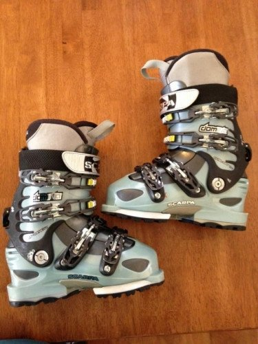 Scarpa Domina--22.5 Ice Blue/Anthracite