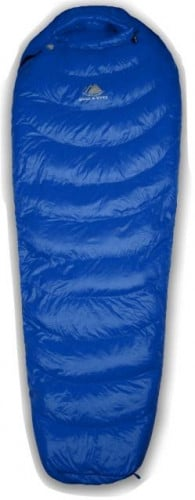Hyke & Byke Quandary 15°F Down Sleeping Bag - Blue Size Long