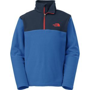 Glacier 1/4-Zip Fleece Pullover - Boys' Monster Blue/Fiery Red, XL - E