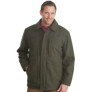 Wool Hunting Coat - Men's Olive Heather/Black, S - Excellent