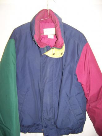 Eddie Bauer Down Puffy Jacket Coat, Mens Small