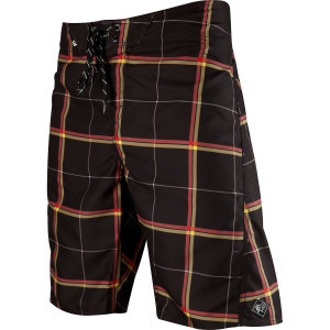 Lloyd Plaid Board Short - Men's Black, 34 - Excell