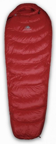 Hyke & Byke Quandary 15°F Down Sleeping Bag - Maroon Size Long