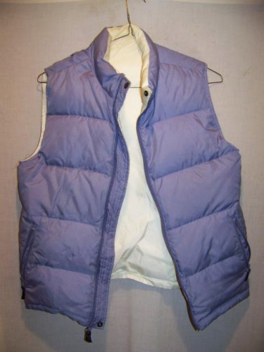 Lands End Reversible Down Vest, Womens Large 14-16