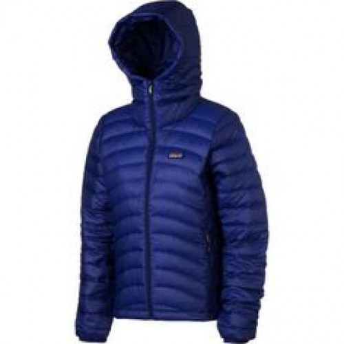 Patagonia Down Sweater Full-Zip Hooded Jacket - Women's Blue Butterfly