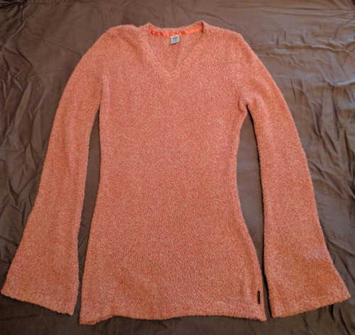 Prana orange/salmon sweater