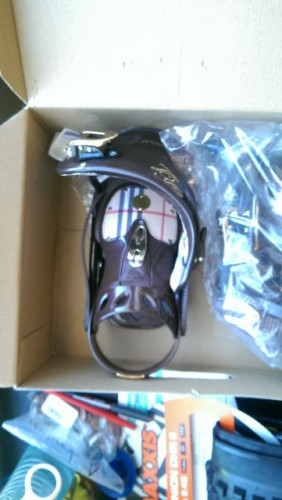Brand New Never Used D.L Lady Snowboard Bindings Medium Brown