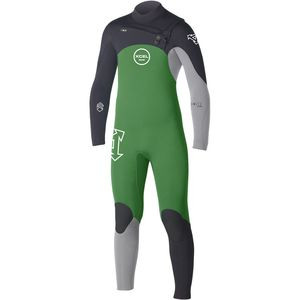 3/2 Comp Wetsuit - Kids' Bright Green/Ice/Black, 14 - Good