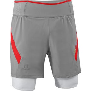 S-Lab Exo Twinskin Short - Men's Aluminium/Racing