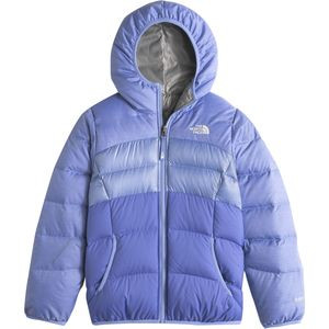 Moondoggy Reversible Down Jacket - Girls' Grapemist Blue Heather, M -