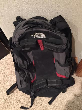 Skiing back pack