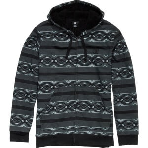T-Star Shearling Print Full-Zip Hoodie - Men's Bla