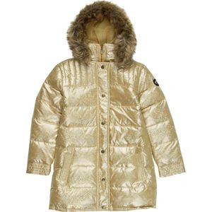 Long Down Jacket - Girls' Gold Square, 12 - Fair