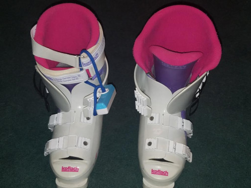 Like New Ladies Koflach Sport 425 Alpine ski boots white hot pink 27.5