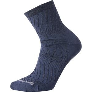 Triangle Texture Mid Crew Sock - Women's Dark Blue Steel, S - Like New