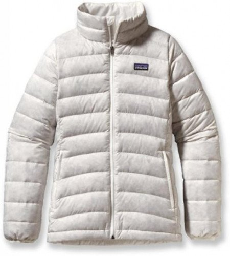 Patagonia Girls' Down Sweater Birch White Medium $119