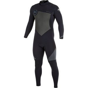 Syncro 5/4/3 Back Zip GBS Wetsuit - Men's Black/Graphite, MS - Excelle