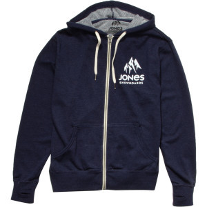 Logo Full-Zip Hoodie - Men's Navy Heather, M - Lik