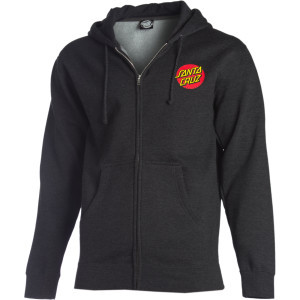 Classic Dot Full-Zip Hoodie  Charcoal Heather, XL