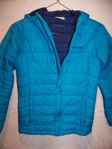 Columbia Lightweight Poly Insulated Hooded Jacket, Girls Medium 10-12