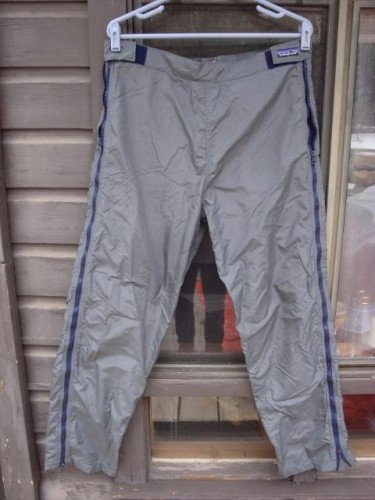 Patagonia Full Side Zip Lined Nylon Pants, Size Medium - Winter Rec.
