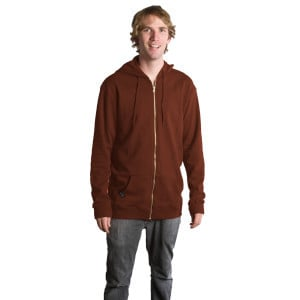Airpill Full-Zip Hooded Sweatshirt - Men's Brown,