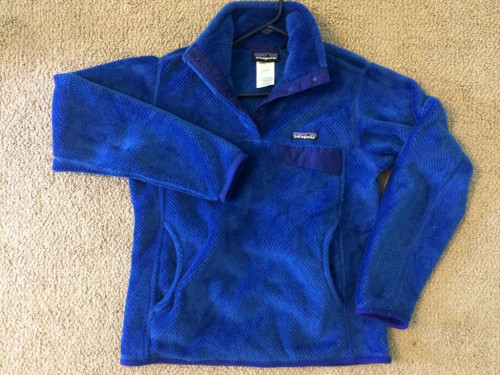 Patagonia Women's Re-Tool Snap-T Fleece Pullover Blue S EUC